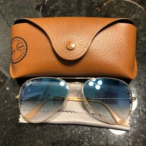 Ray-ban Blue Gradient Aviators